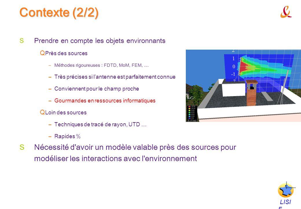Contexte (2/2) Prendre en compte les objets environnants. Près des sources. Méthodes rigoureuses : FDTD, MoM, FEM, …