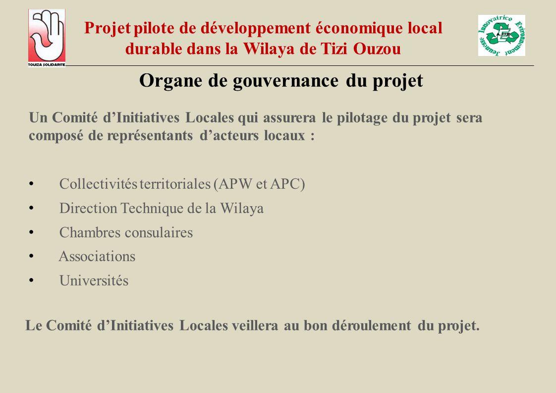 Organe de gouvernance du projet