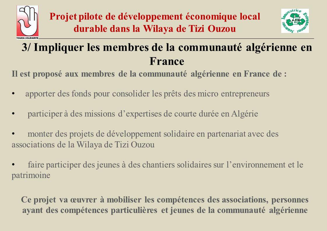 3/ Impliquer les membres de la communauté algérienne en France