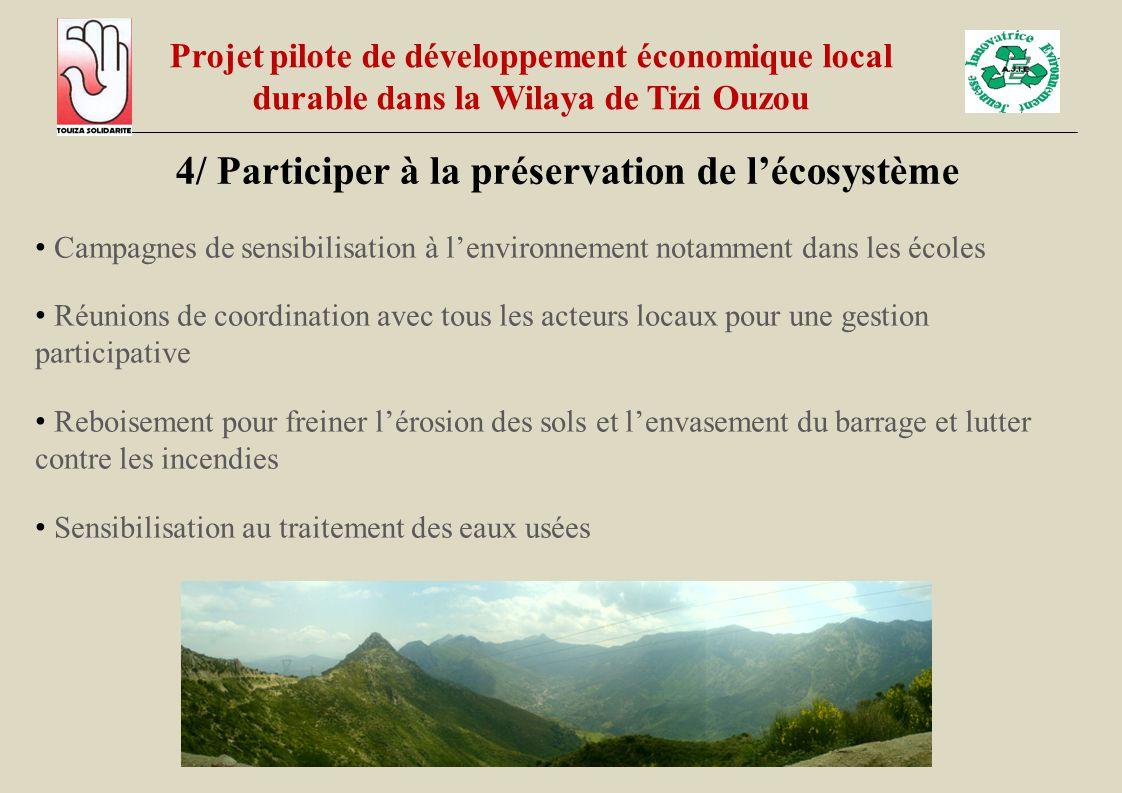 4/ Participer à la préservation de l'écosystème