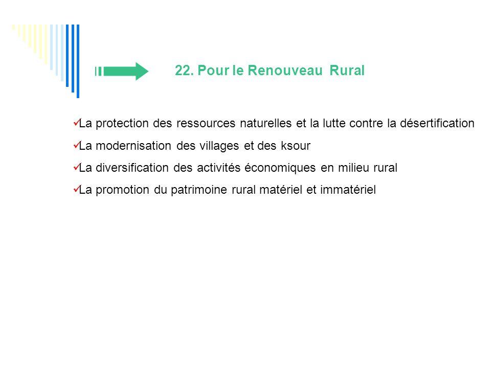 22. Pour le Renouveau Rural