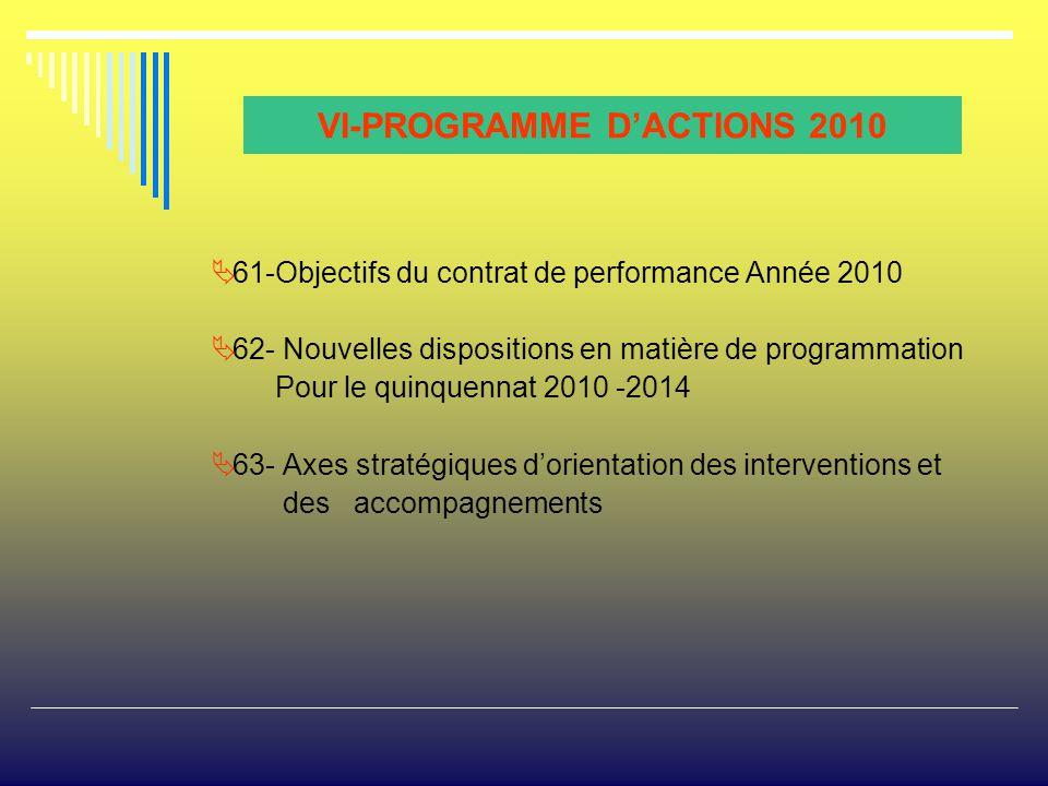 VI-PROGRAMME D'ACTIONS 2010
