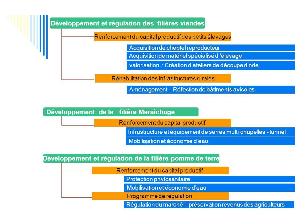 Développement et régulation des filières viandes