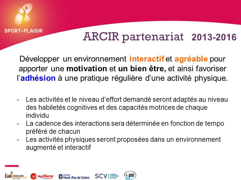 ARCIR partenariat 2013-2016