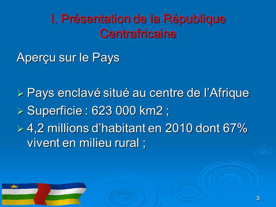 I. Présentation de la République Centrafricaine