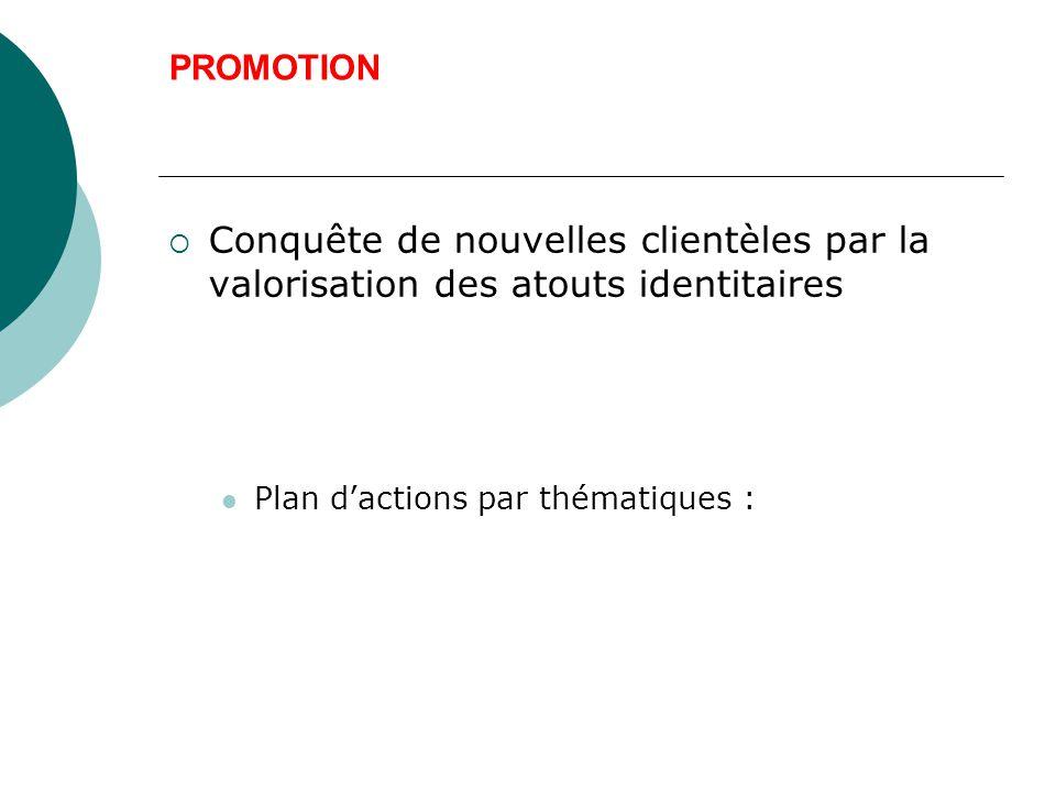 PROMOTION Conquête de nouvelles clientèles par la valorisation des atouts identitaires.