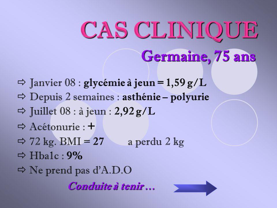 CAS CLINIQUE Germaine, 75 ans