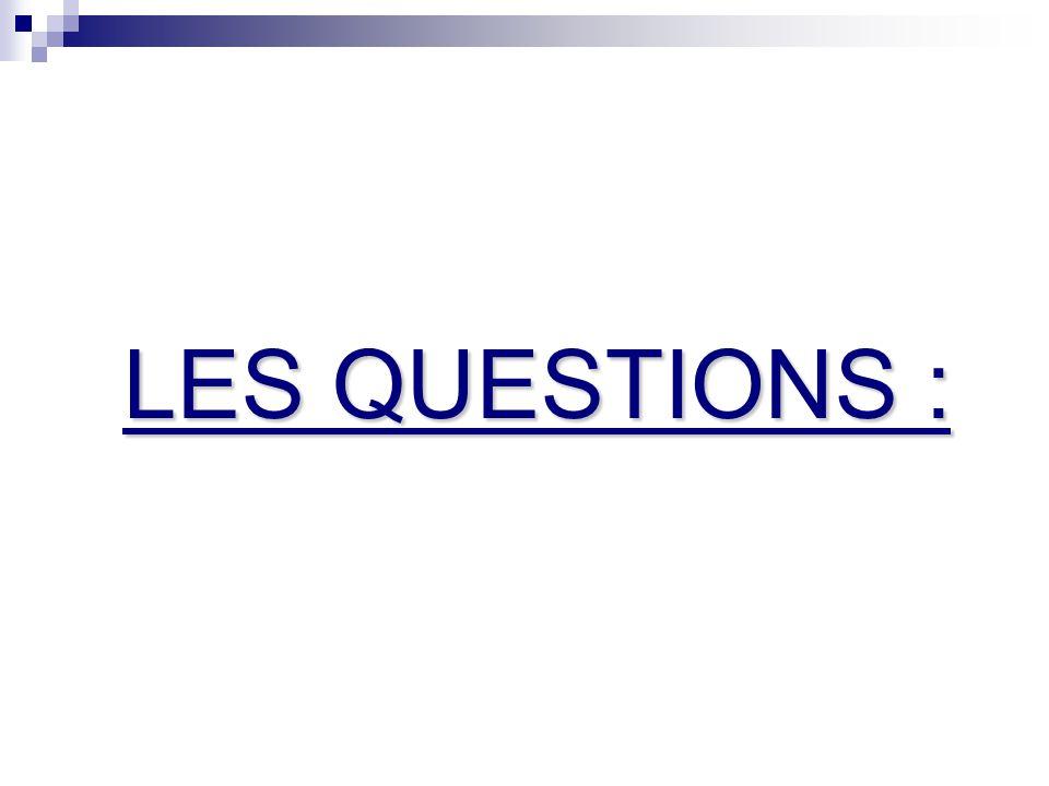 LES QUESTIONS :