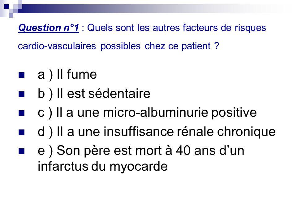 c ) Il a une micro-albuminurie positive
