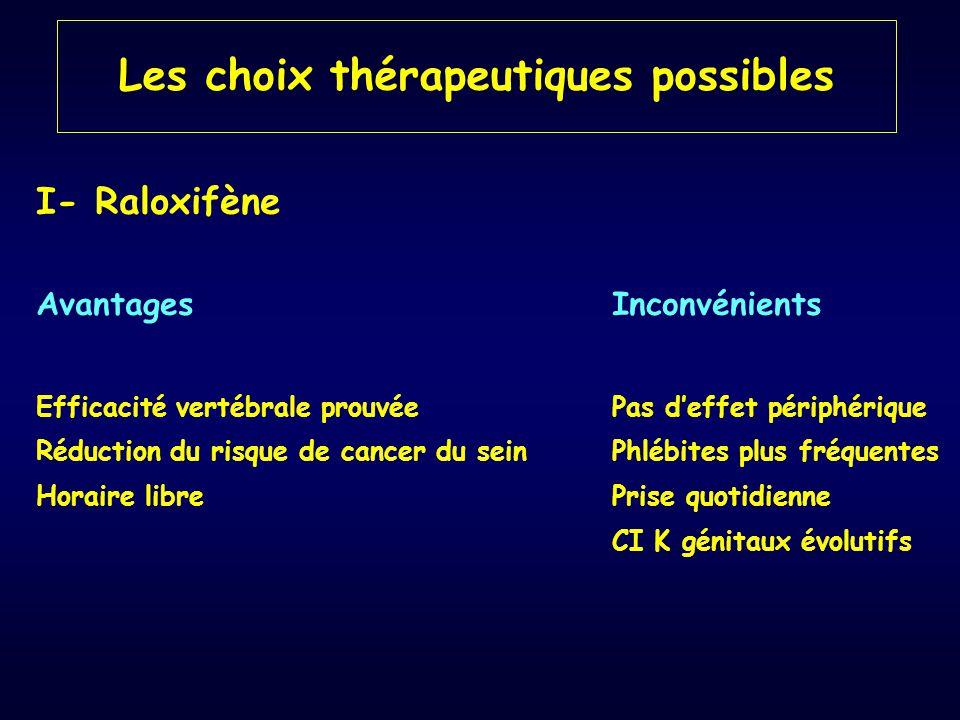 Les choix thérapeutiques possibles