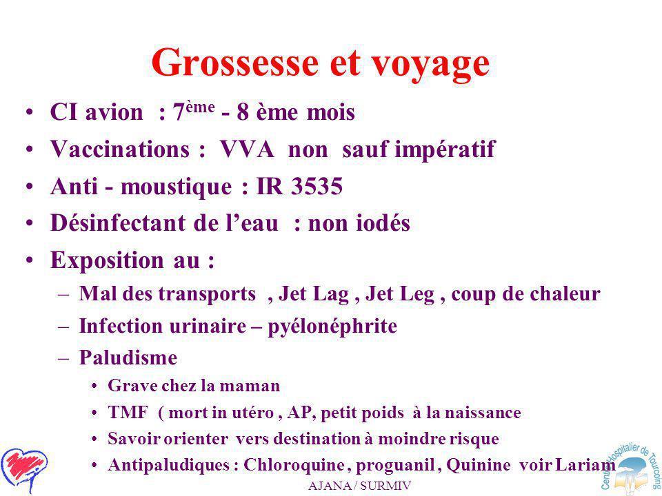 Grossesse et voyage CI avion : 7ème - 8 ème mois