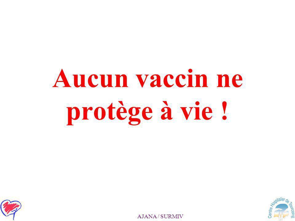 Aucun vaccin ne protège à vie !