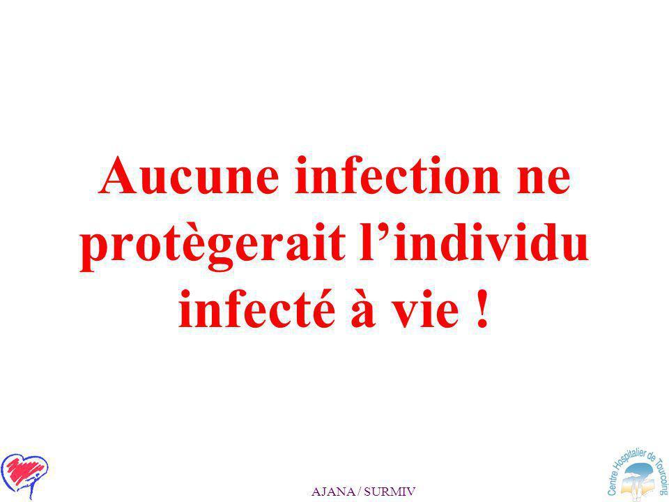 Aucune infection ne protègerait l'individu infecté à vie !