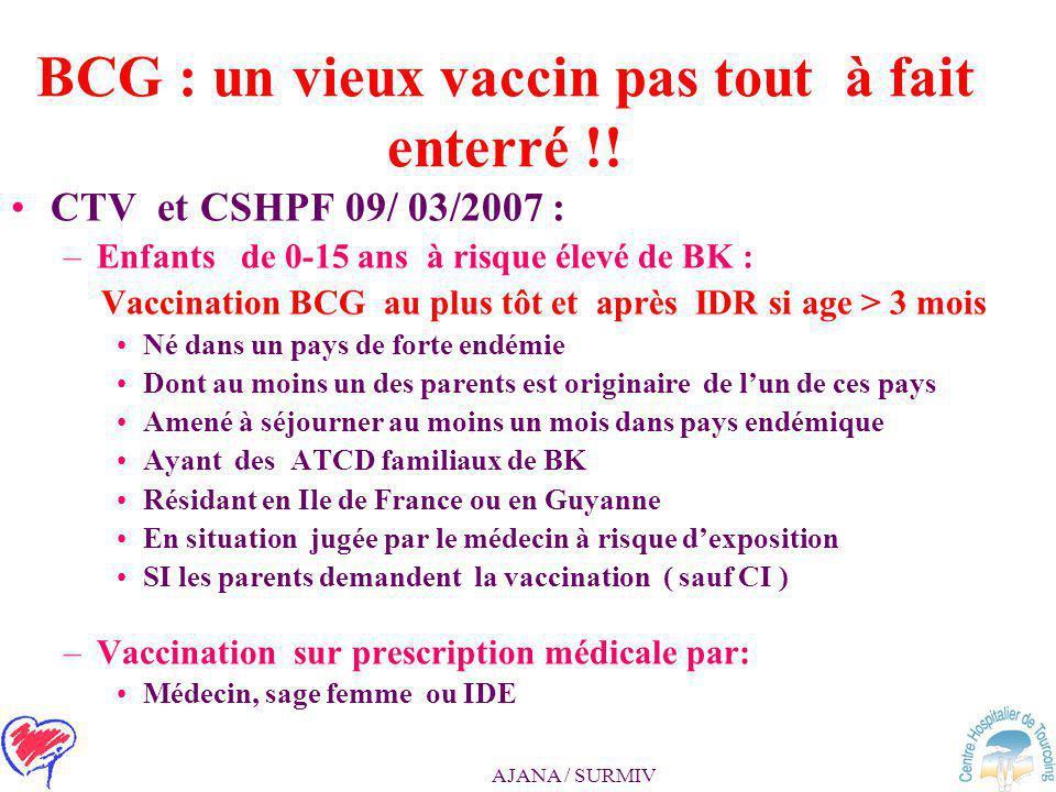 BCG : un vieux vaccin pas tout à fait enterré !!