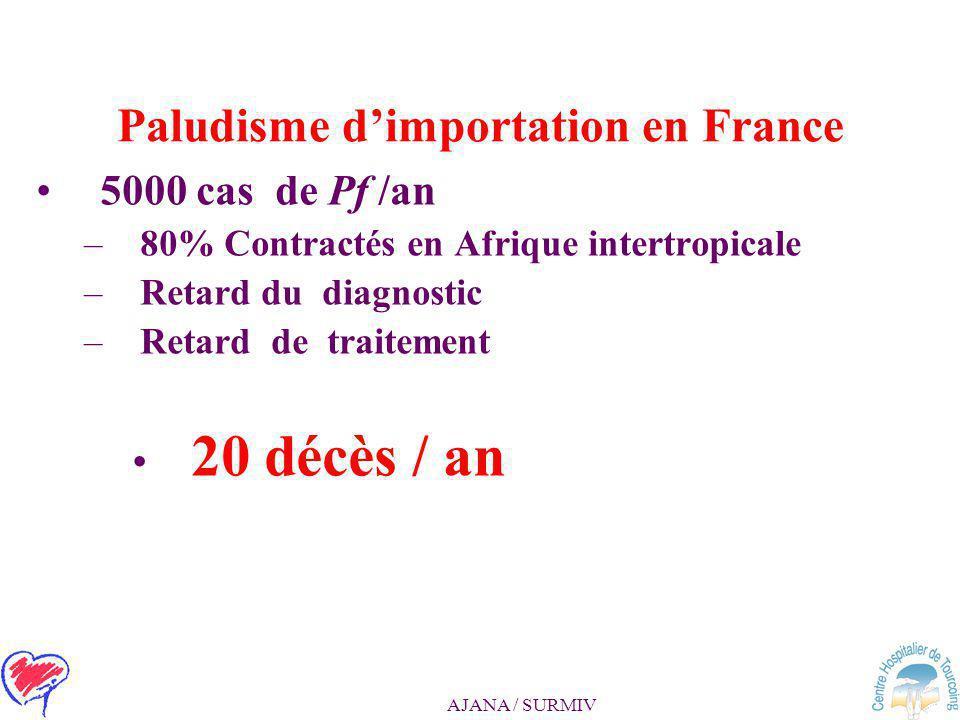 Paludisme d'importation en France