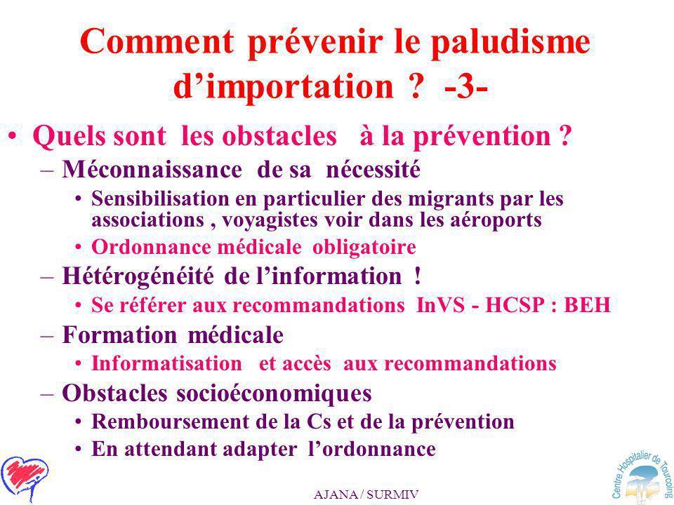 Comment prévenir le paludisme d'importation -3-