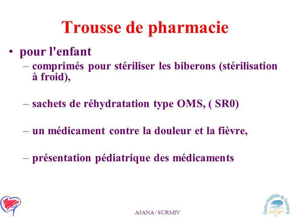 Trousse de pharmacie pour l enfant