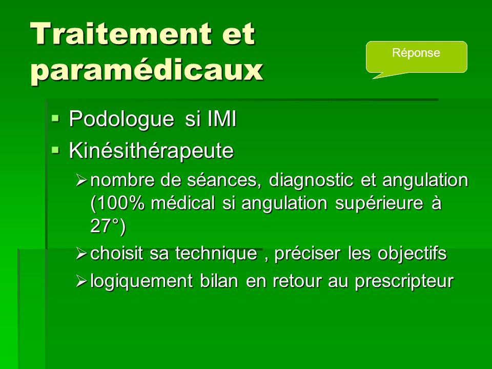 Traitement et paramédicaux