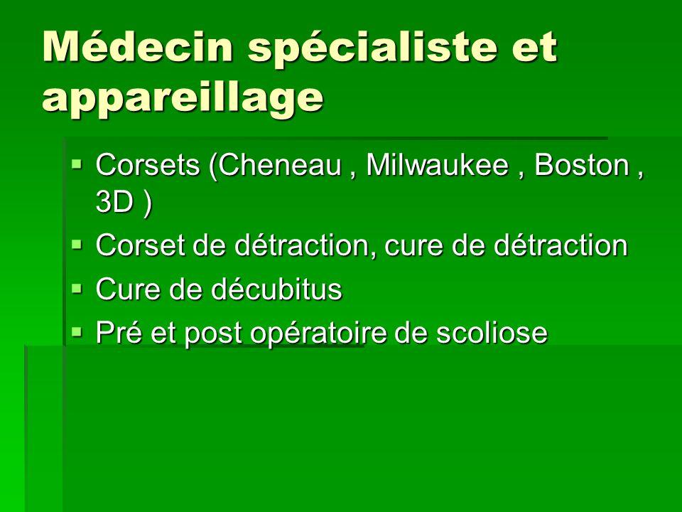 Médecin spécialiste et appareillage