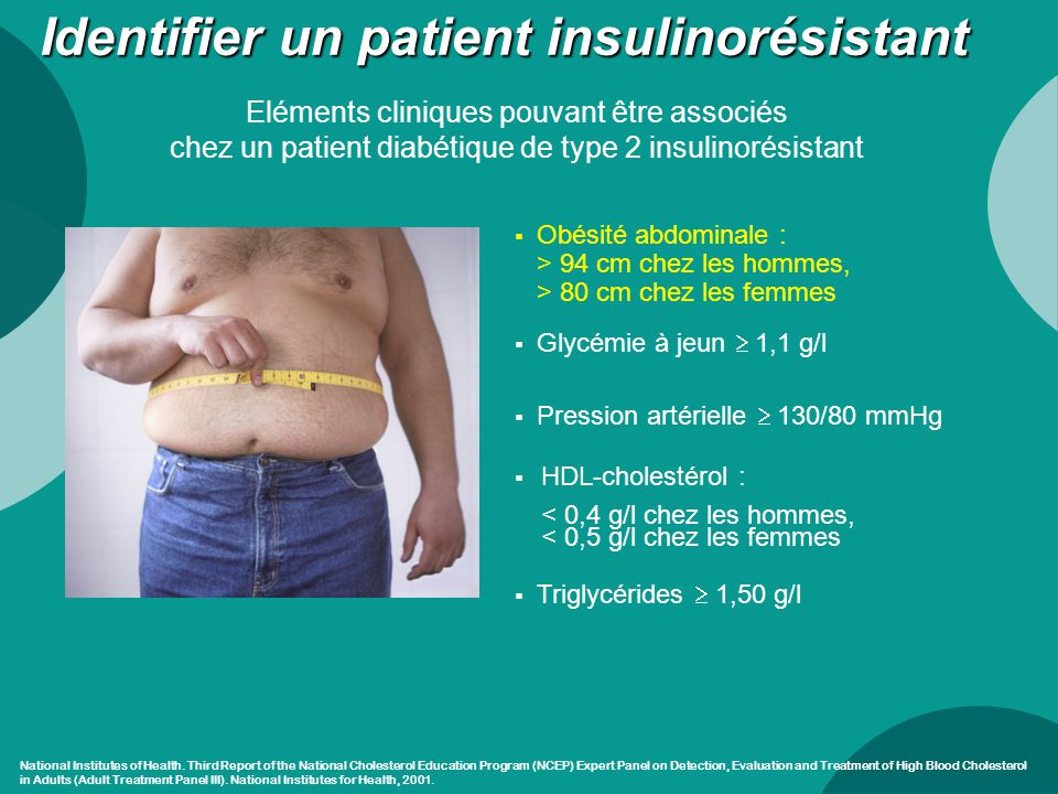 Identifier un patient insulinorésistant