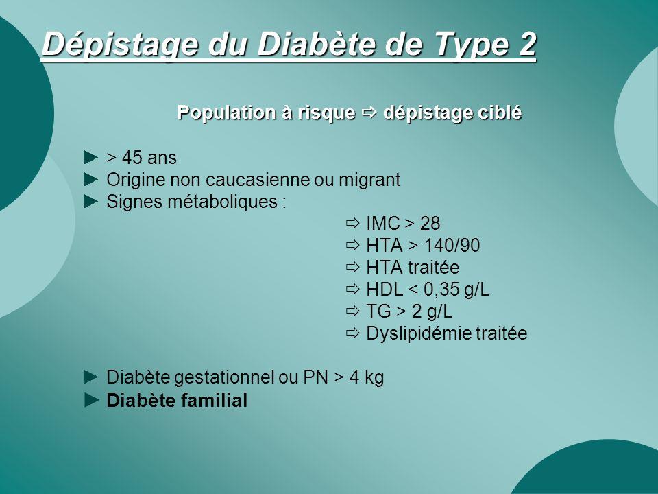 Dépistage du Diabète de Type 2