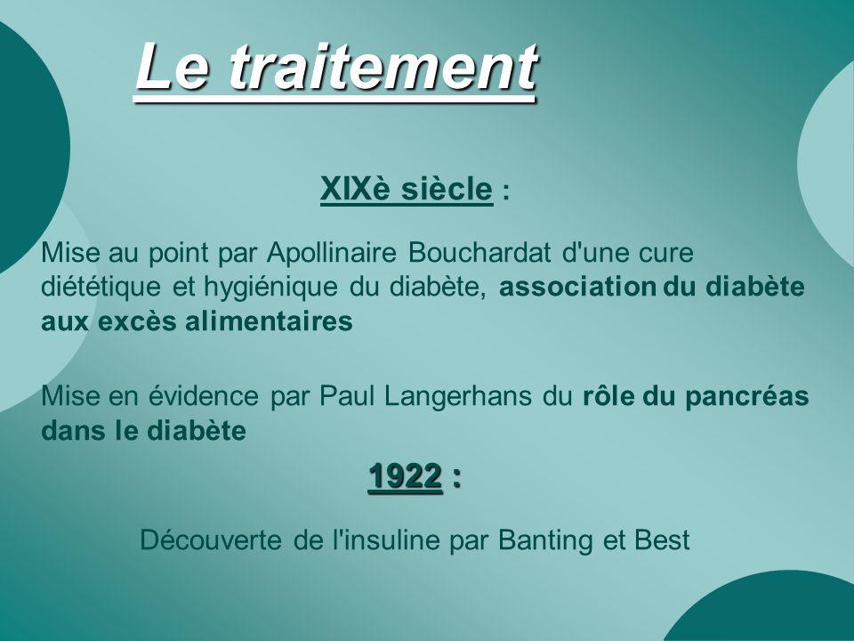 Découverte de l insuline par Banting et Best