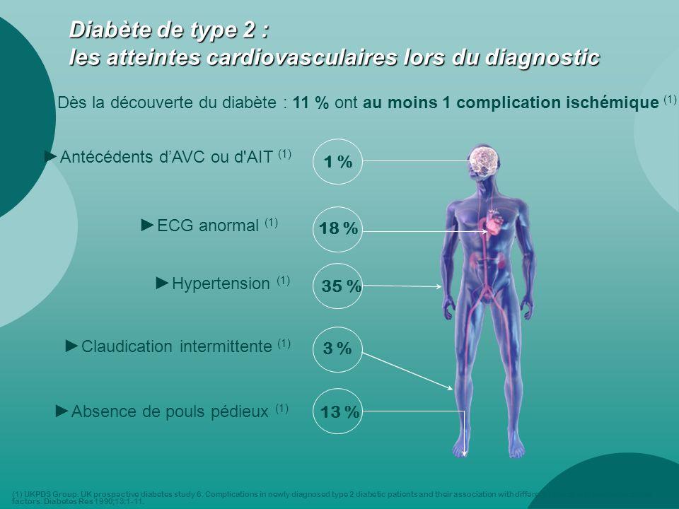 Diabète de type 2 : les atteintes cardiovasculaires lors du diagnostic