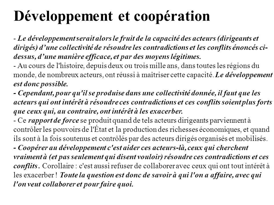 Développement et coopération