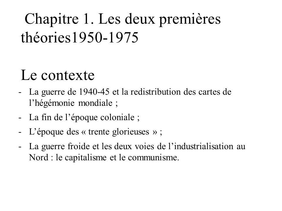 Chapitre 1. Les deux premières théories1950-1975