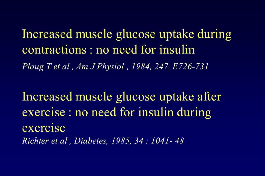 Increased muscle glucose uptake during contractions : no need for insulin