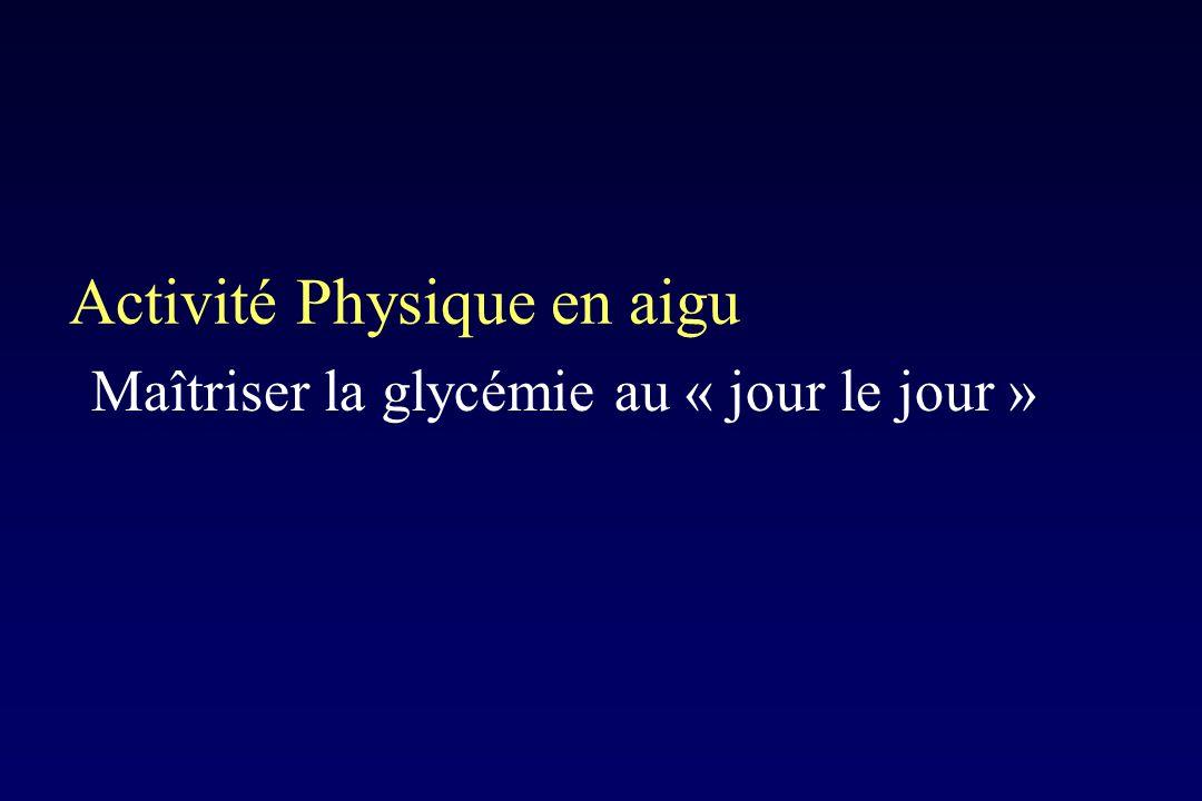 Activité Physique en aigu