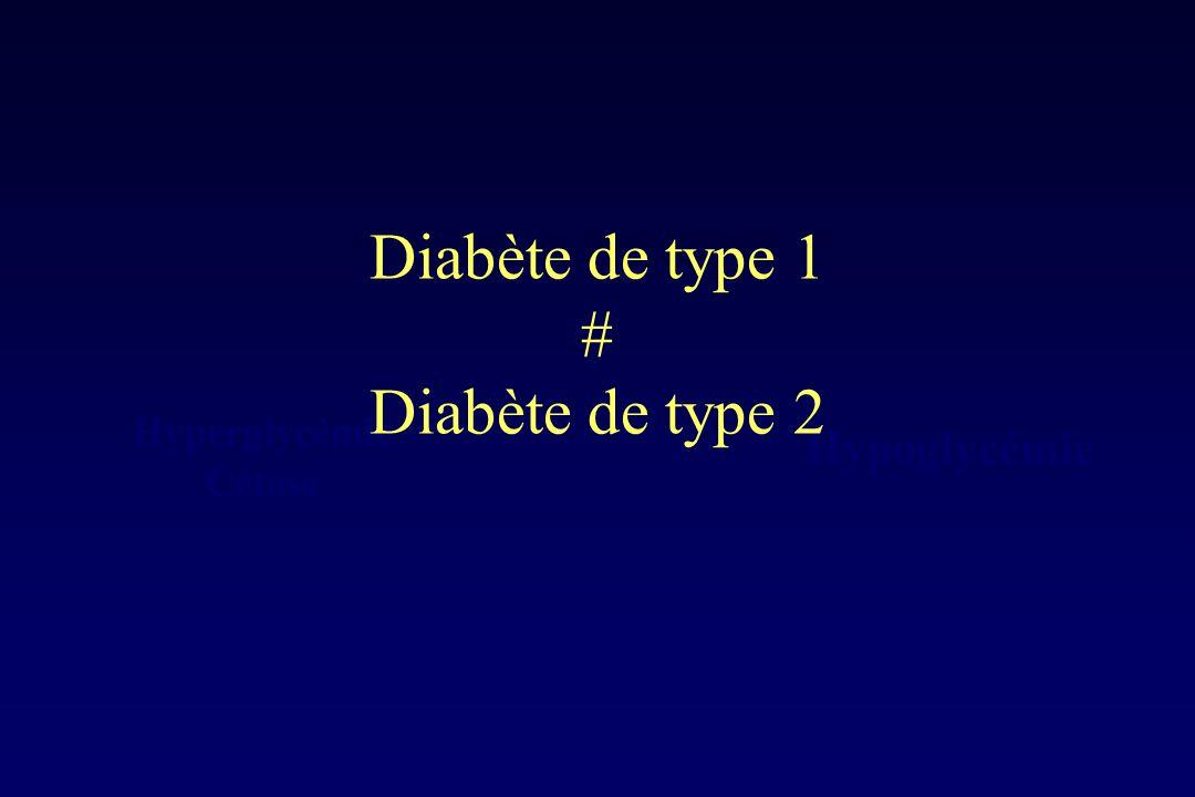Diabète de type 1 # Diabète de type 2