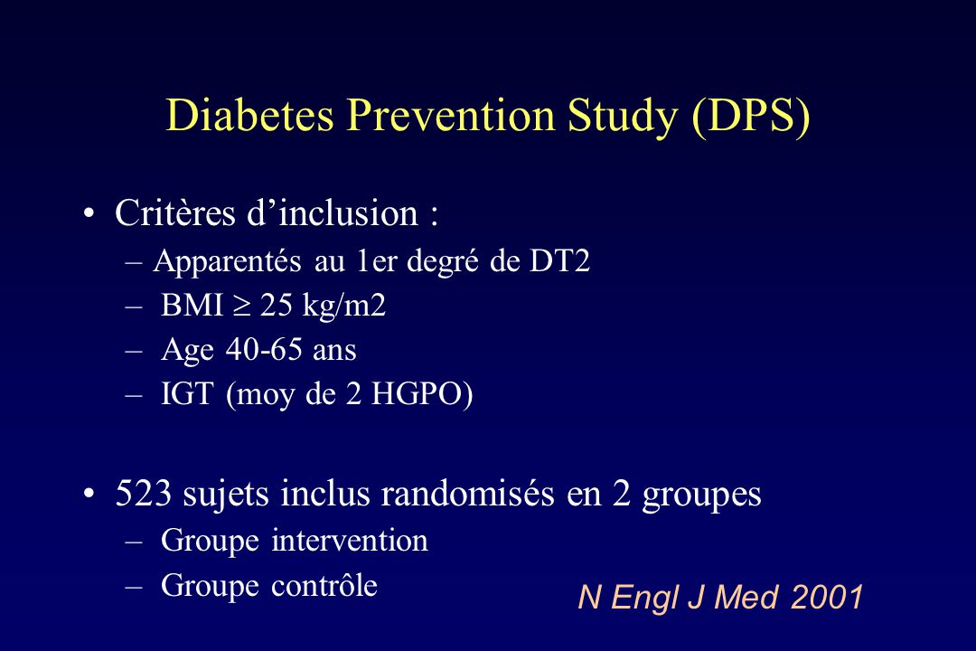 Diabetes Prevention Study (DPS)