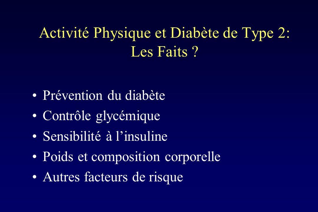 Activité Physique et Diabète de Type 2: Les Faits