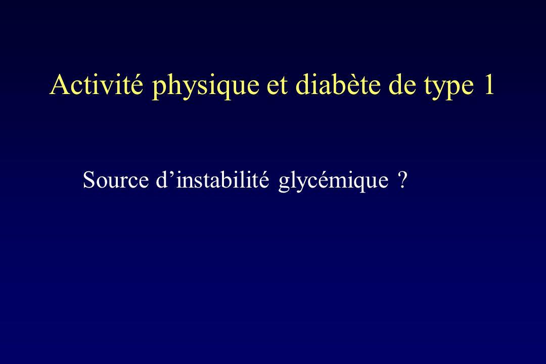 Activité physique et diabète de type 1