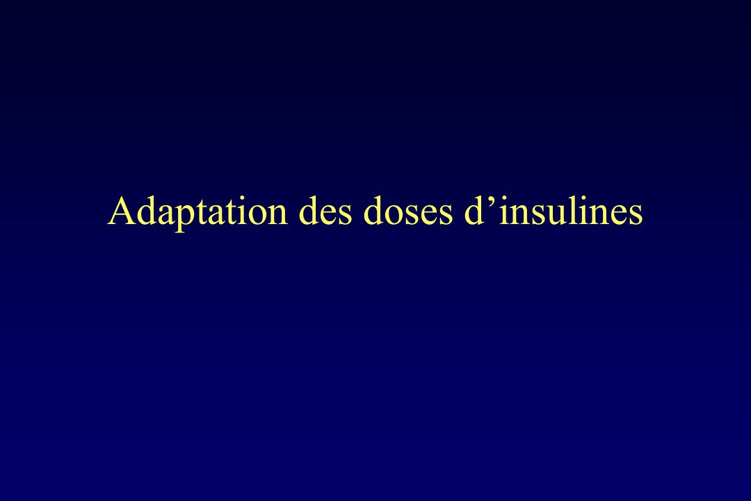 Adaptation des doses d'insulines