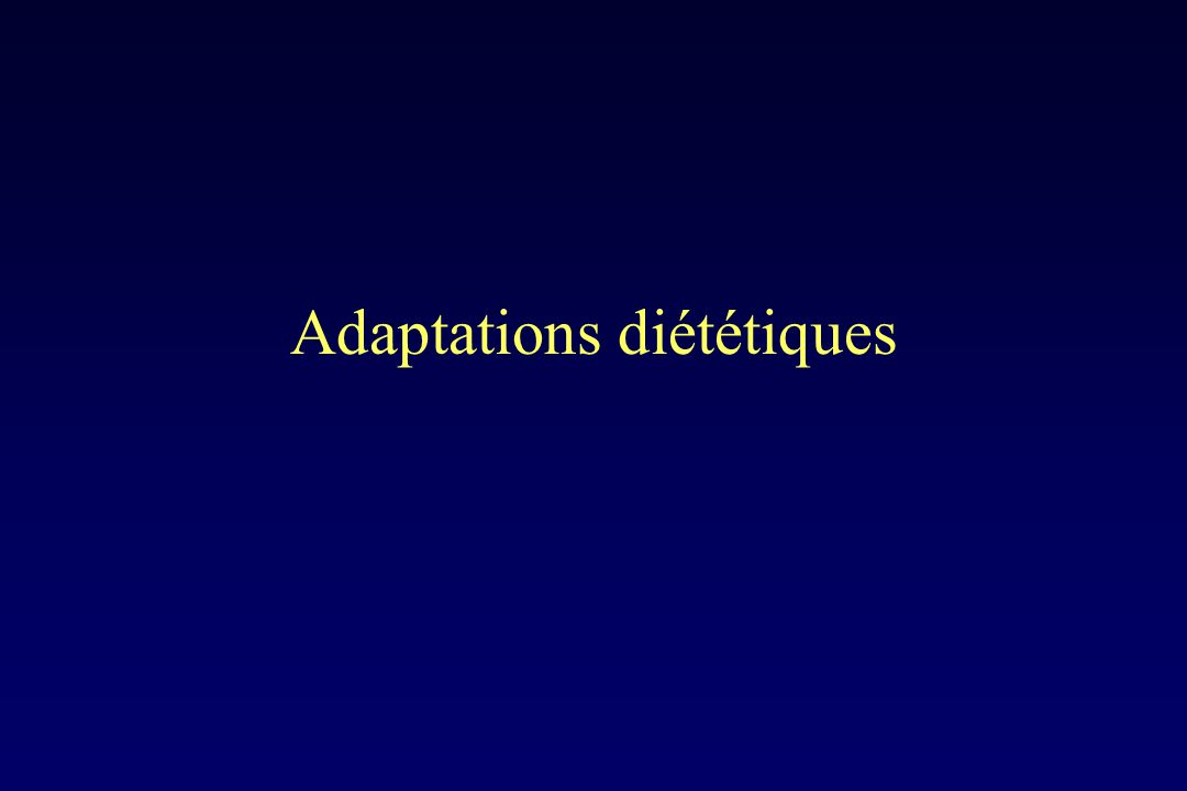 Adaptations diététiques