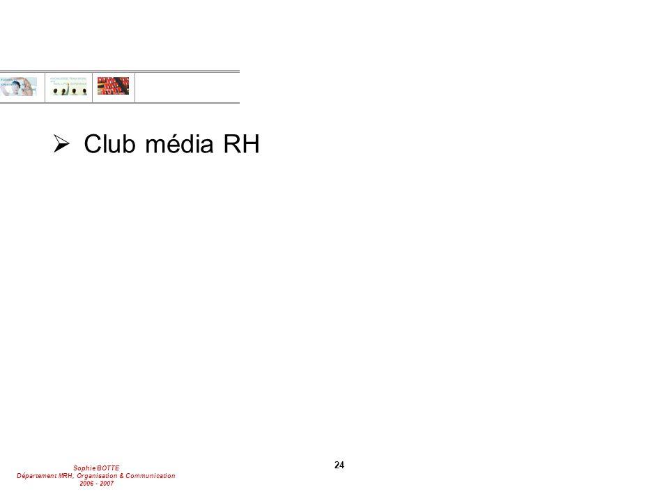 Club média RH 24