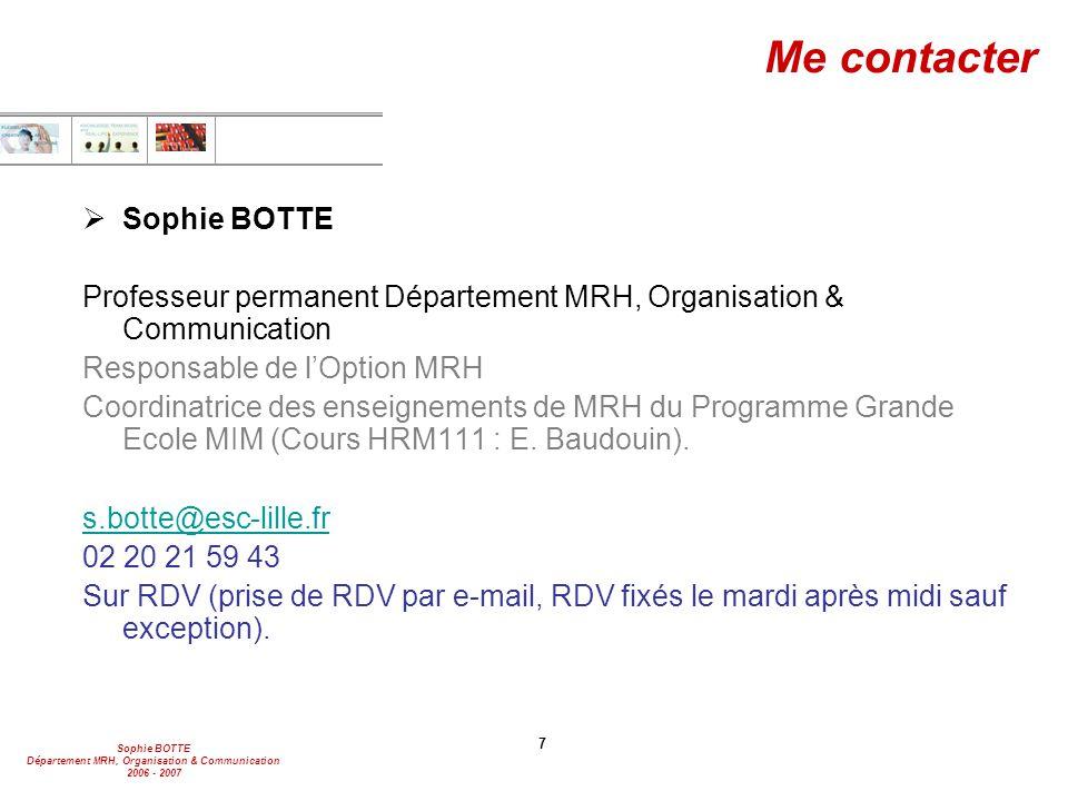 Me contacter Sophie BOTTE