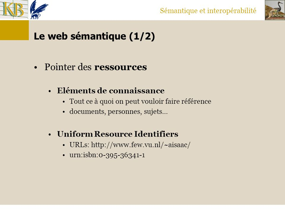 Pointer des ressources