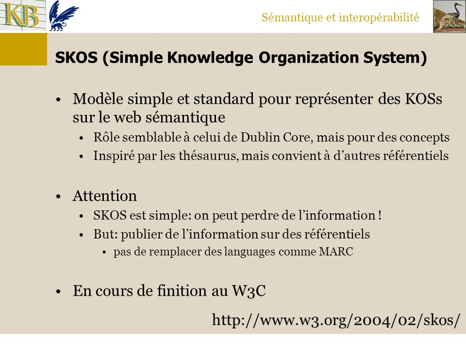 SKOS (Simple Knowledge Organization System)