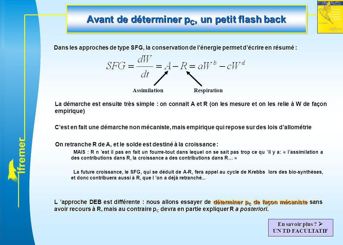 Avant de déterminer pC, un petit flash back