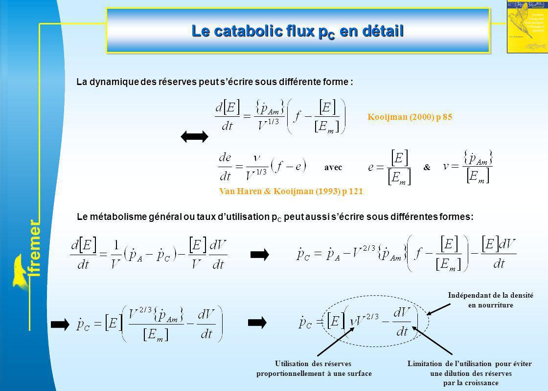 Le catabolic flux pC en détail