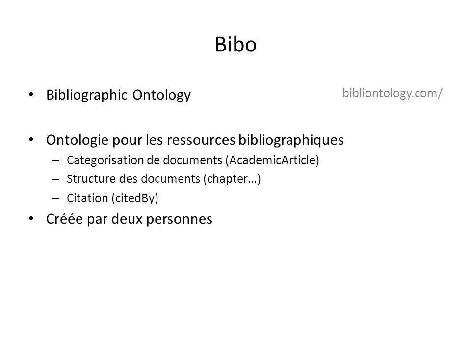 Bibo Bibliographic Ontology