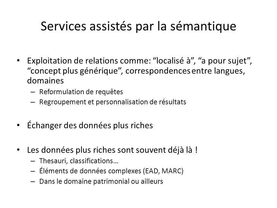 Services assistés par la sémantique