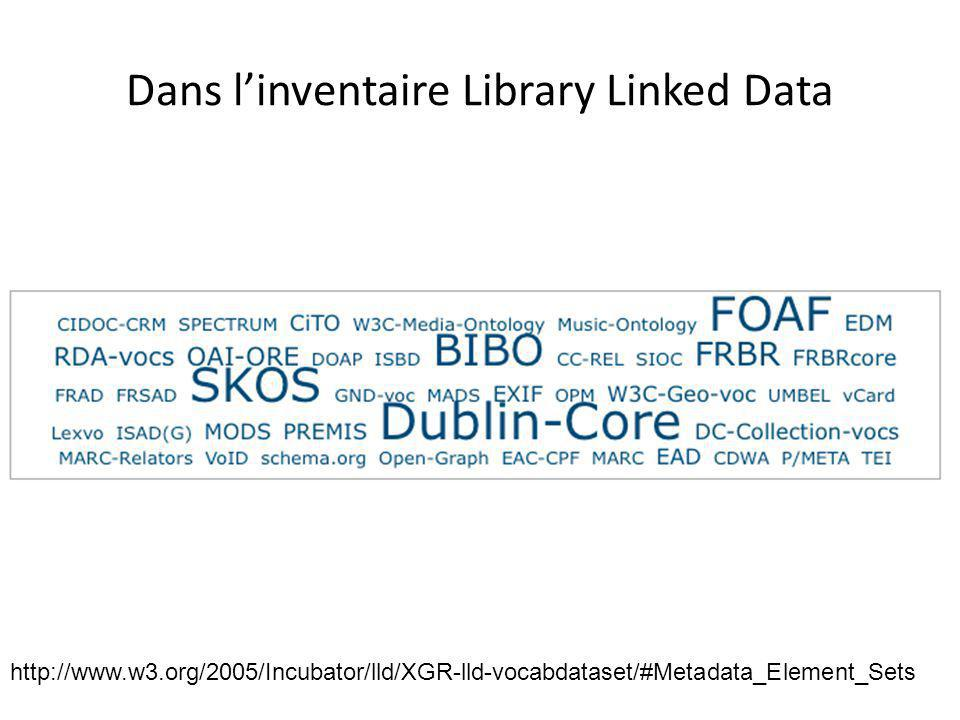 Dans l'inventaire Library Linked Data