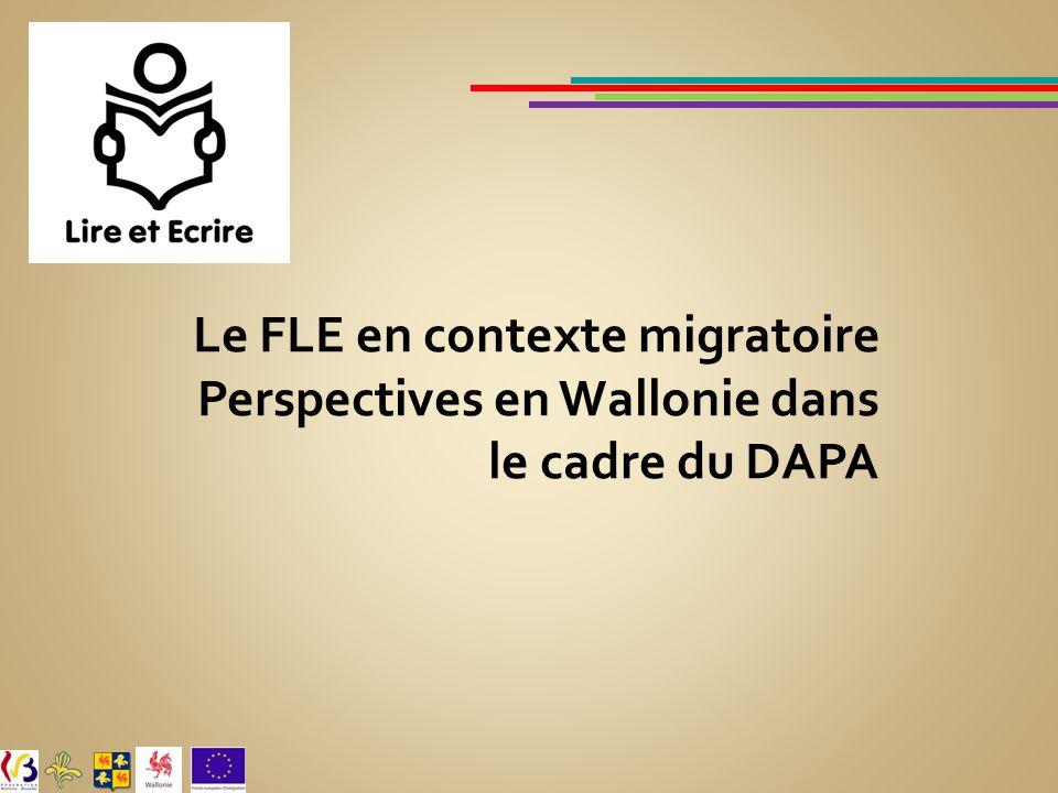 Le FLE en contexte migratoire