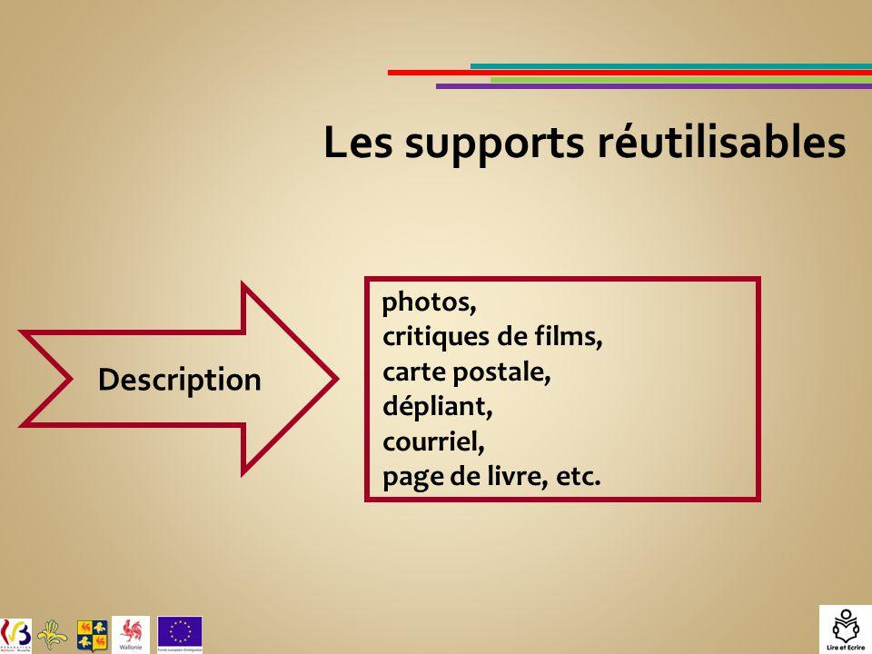 Les supports réutilisables