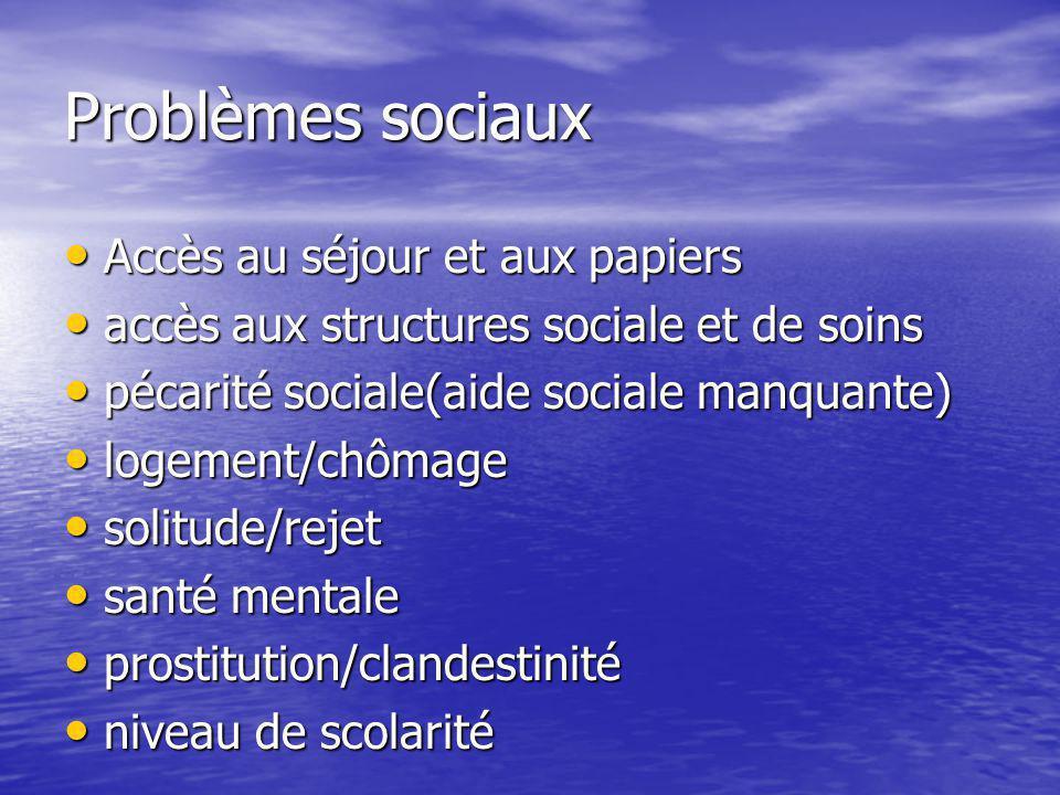 Problèmes sociaux Accès au séjour et aux papiers