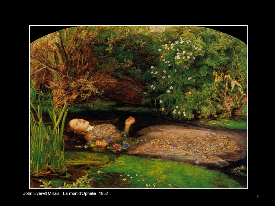 John Everett Millais– La mort d'Ophélie- 1852